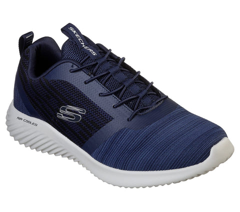 Skechers Bounder 52504 NAVY bungee Laced Shoe