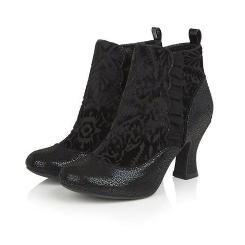 Ruby Shoo Boot Antionette BLACK Velvet