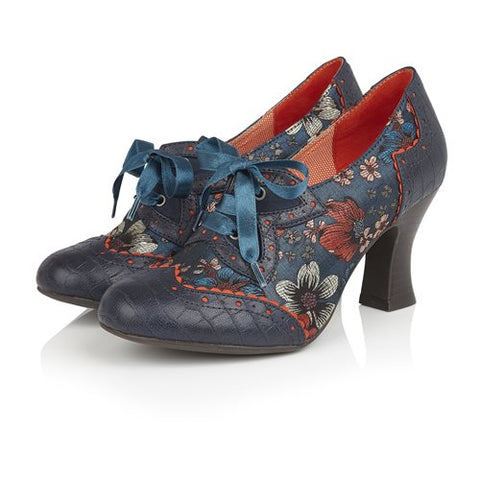 Ruby Shoo Lace up Shoe Boot Daisy CYAN