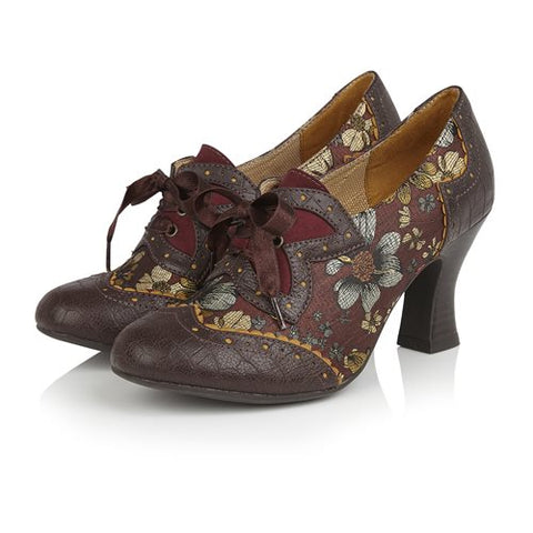 Ruby Shoo Lace up shoe boot Daisy RUSSET