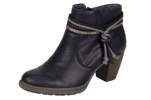 Ladies Rieker Ankle Boot 55298 Black