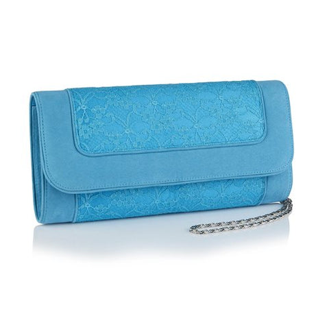 Ruby Shoo Tirana TURQUOISE Clutch Bag To match Chrissie Shoes