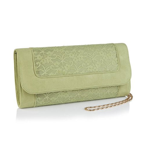 Ruby Shoo Tirana PISTACHIO Clutch Bag to match Chrissie Shoes
