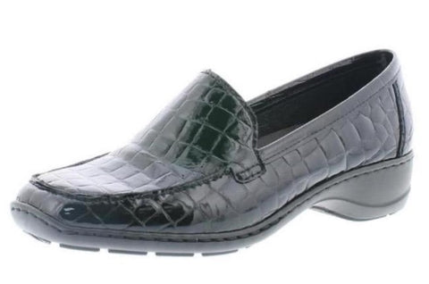 Rieker 583Ao-00 BLACK Croc Slip on Shoe