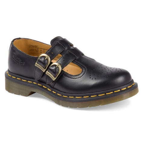 Dr. Martens Ladies 8065 Mary Jane Double Bar Shoe Black (12916001)