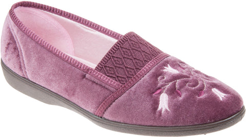 Ladies Slipper by Sleepers Inez in Heather LS792M