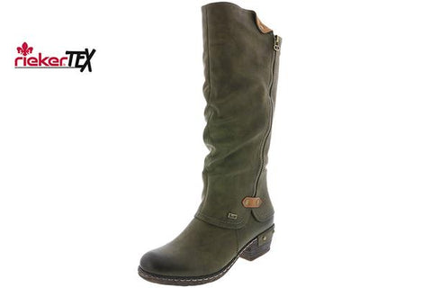 Rieker Ladies Long Boot  OLIVE 93655-54