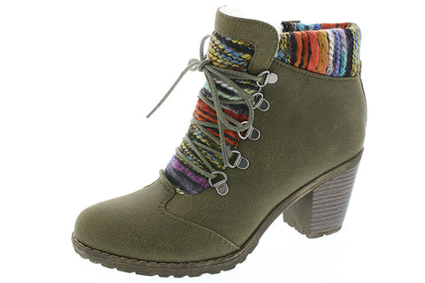 Ladies Rieker Ankle Boot 95323 Olive Green