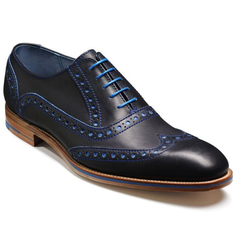 Barker Mens Stunning Grant Leather Shoes Navy Classic Blue Mf010690 BLUE. GRANT