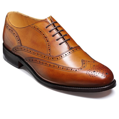 Barker Mens Stunning Newport Leather Shoes Cedar