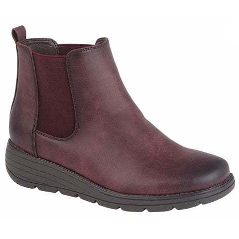 Cipriata L048BD Bernadetta Burgundy Chelsea Boot with Zip