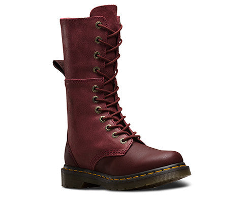 Dr Martens Ladies Hazil Tall Slouch Boot Cherry (20346600)