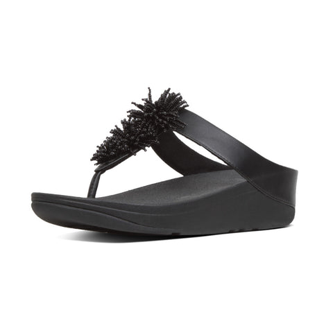 Fitflop Fino Bead BLACK Toe Post Sandal