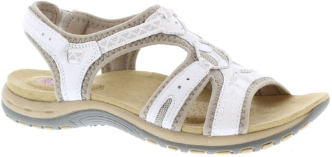 Earth Spirit Fairmont WHITE Velcro Strap Sandal