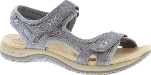 Earth Spirit Frisco GREY Velcro Fastening Sandal