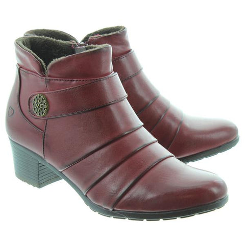 Heavenly Feet Ankle Boot Claire Wine