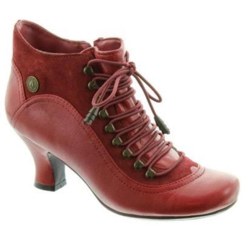 Hush Puppies Vivianna Red Leather Ankle Boots