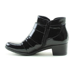 Heavenly Feet Claire Ankle Boot in Black Patent