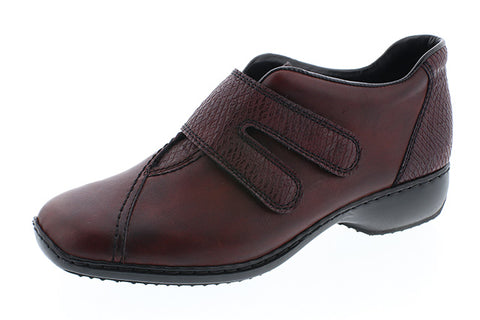 Ladies Rieker Shoe L3856 Wine Leather