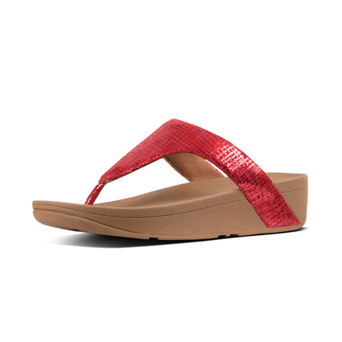 Fitflop Lottie Chain RED chain print Toe Post