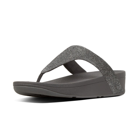 Fitflop Lottie Glitzy PEWTER Glitzy Toe Post Sandal
