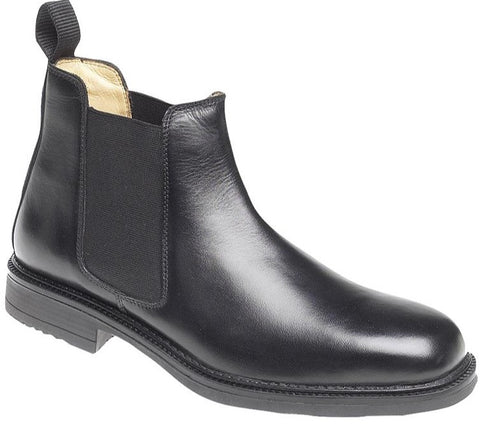 Roamers Mens BLACK Leather Chelsea Boot M278A