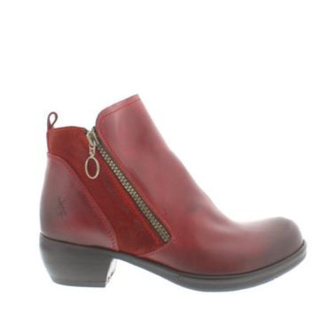 Fly London ankle boots Meli Brick Red leather  RRP £115.00