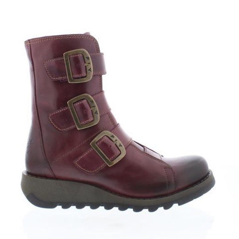 Fly London Scop PURPLE Buckle Biker Boot