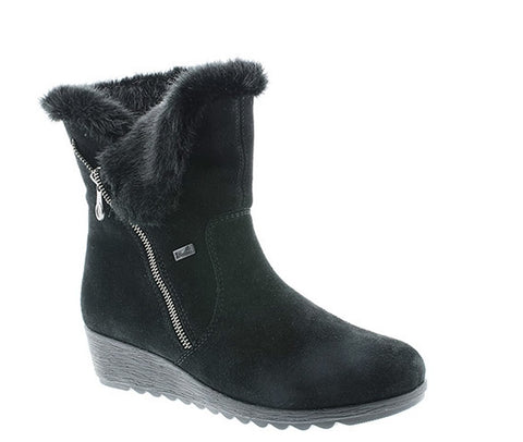 RIEKER X2470 WOMENS WEDGE HEELED WARM LINED WINTER BOOT