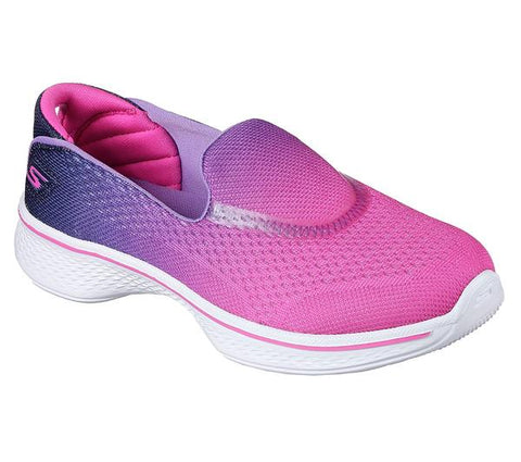 SKECHERS 81140HPPR GO WALK 4 Sporty Starz Hot Pink Purple