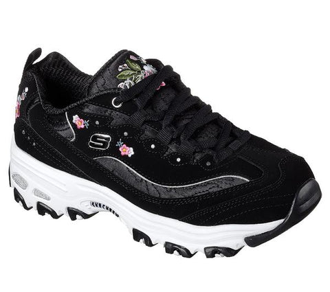 SKECHERS 11977 BLK D'Lites Bright Blossoms