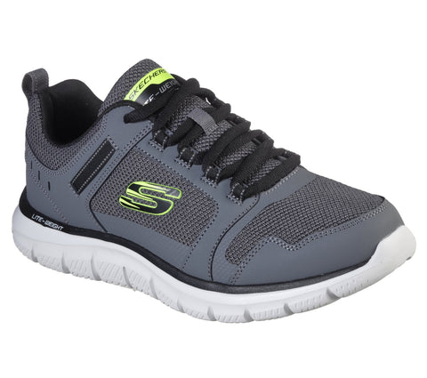 Skechers Mens GREY 232001 CCBK Memory Foam trainer
