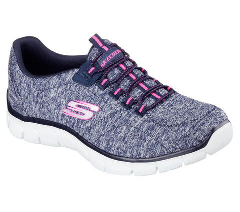 Skechers Ladies 12404NVHP  RELAXED FIT: EMPIRE - HEART TO HEART Navy