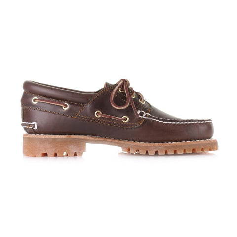 Timberland Mens 3 Eye  Trad Lugs  Brown Lace Up Shoe 30003