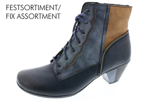 Ladies Rieker Ankle Boot Y7214 Navy