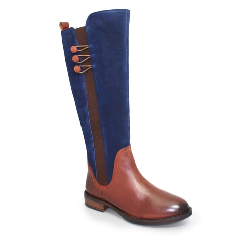 Lunar Aileen Tan/Navy Long Boot  GLH526