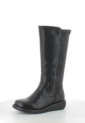 Heavenly Feet Ursula BLACK long leg boot