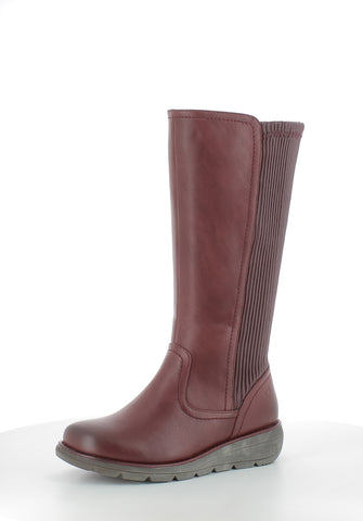 Heavenly Feet Ursula Claret Long Boot