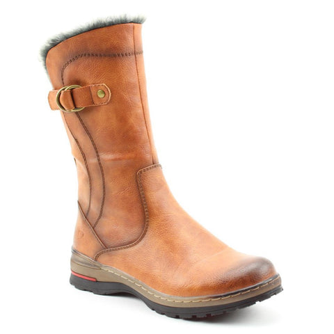 Heavenly Feet Bramble TAN Mid Calf Lined Boot