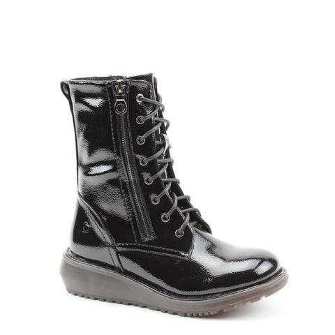 Heavenly Feet Pepper BLACK  Patent 8 eyelet boot