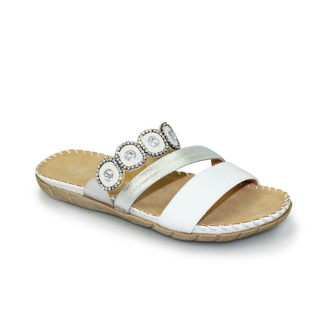 Lunar WHITE BELIZE Slider Sandal