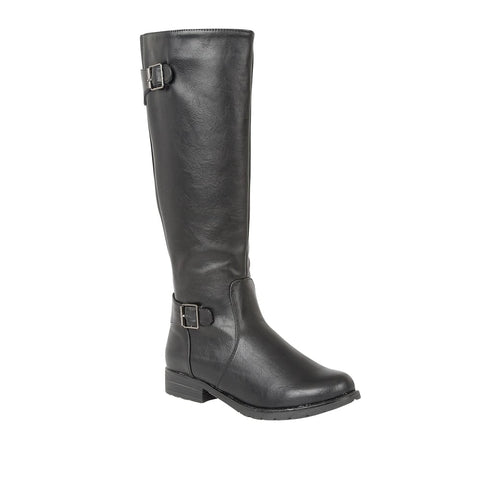 Lotus Black Beal Knee-High Boots