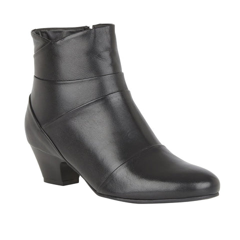 Lotus Tamara Black Leather Ankle Boot