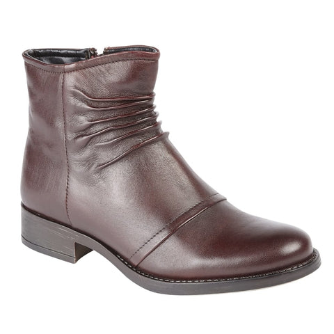 Lotus Bordo Bannock Leather Ankle Boots