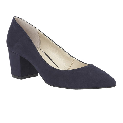 Lotus Briars Ladies Mid Heel Court Shoe Navy 50747