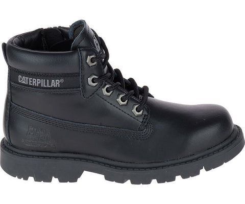 Caterpillar Colorado Boot with Laces and Zip Black Leather