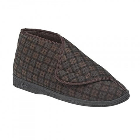 Mens Slipper by Comfylux James in Brown MS220B