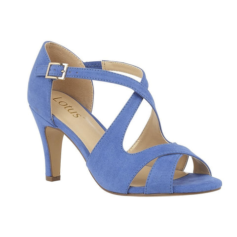 Lotus Sadia Cornflower Blue Open Toe Dress Sandals ULS157