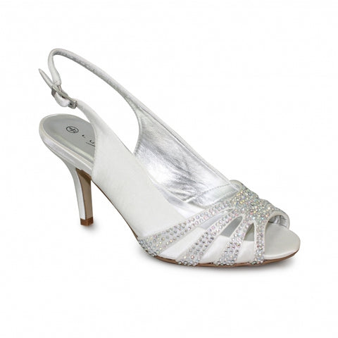 Ladies Lunar Court Shoe FLR469 Cosmic in White matching bag available