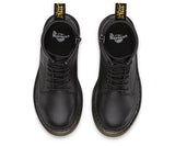 Dr Martens Delaney 8 eyelet Boot Black Softee Leather with laces and zip